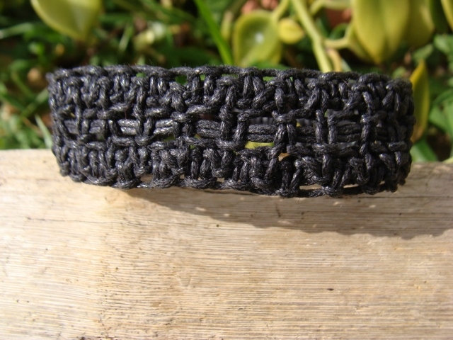 black macrame surf bracelet