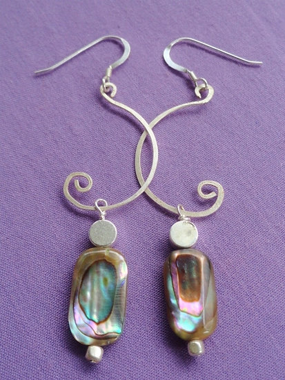 Sexy Long Dangle Chic Abalone Shell Earrings