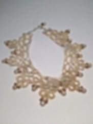 vintage lace pearl choker