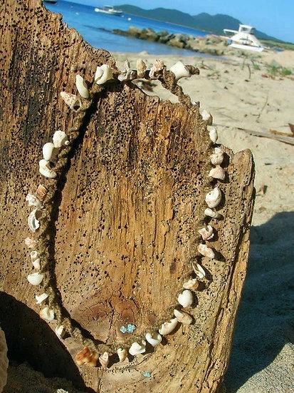 Nonmetal Hemp Macrame Sea Shell Surfer Necklace