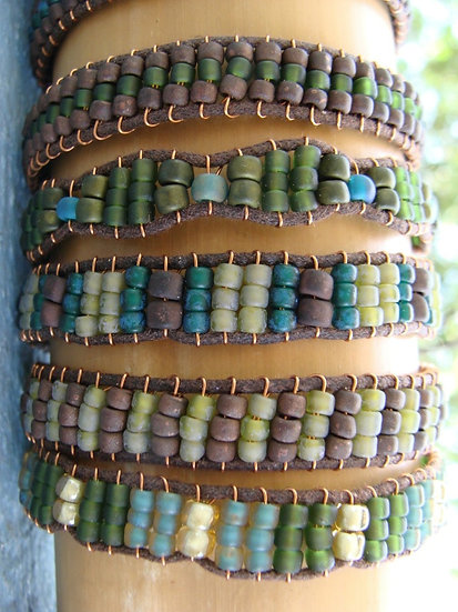 Green Glass Bead Affordable Friendship Bracelets