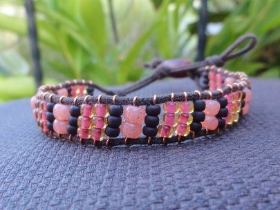 Affordable Coral Glass Beaded Friendship Bracelet