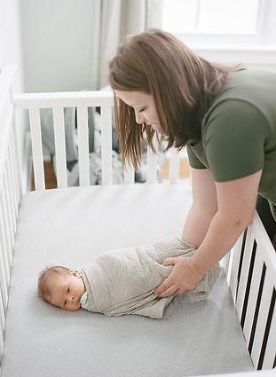 swaddled baby postpartum doula wilmington north carolina