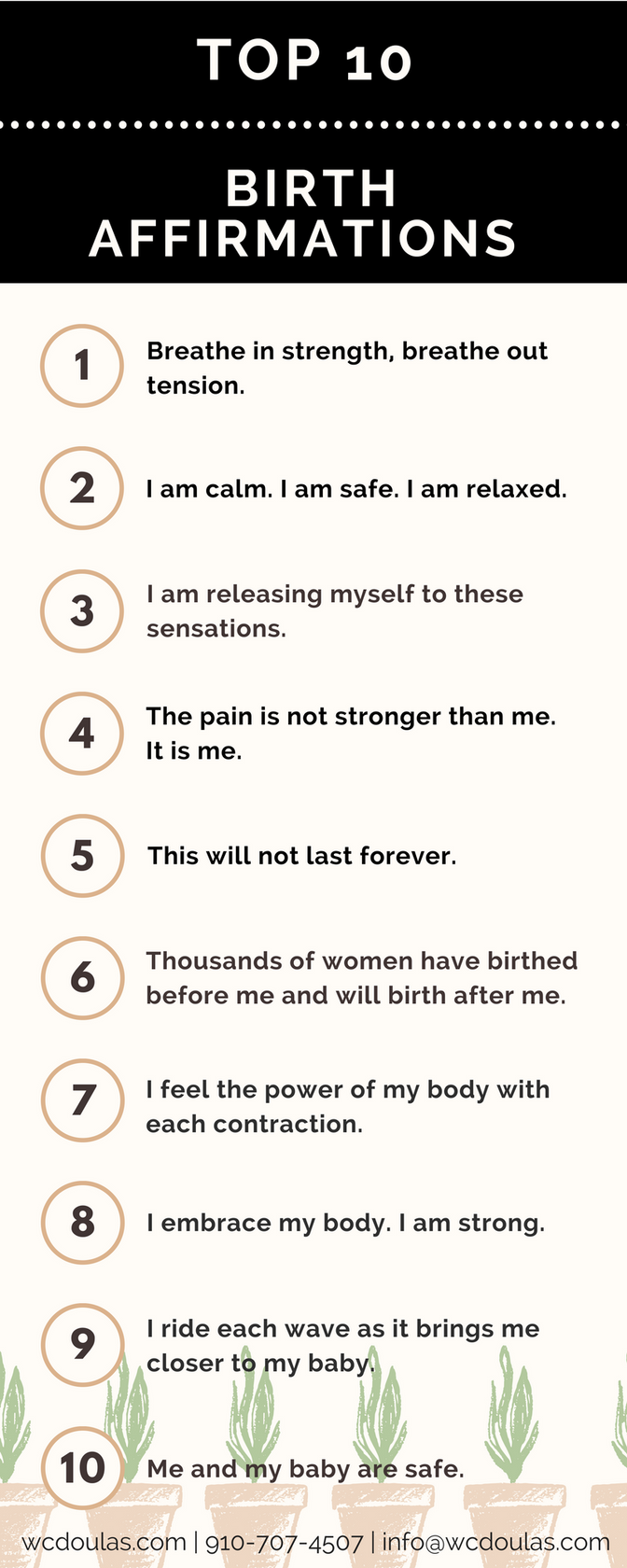 Badass Birth Affirmations