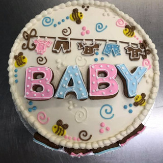 baby shower cake with clothes line 2019.