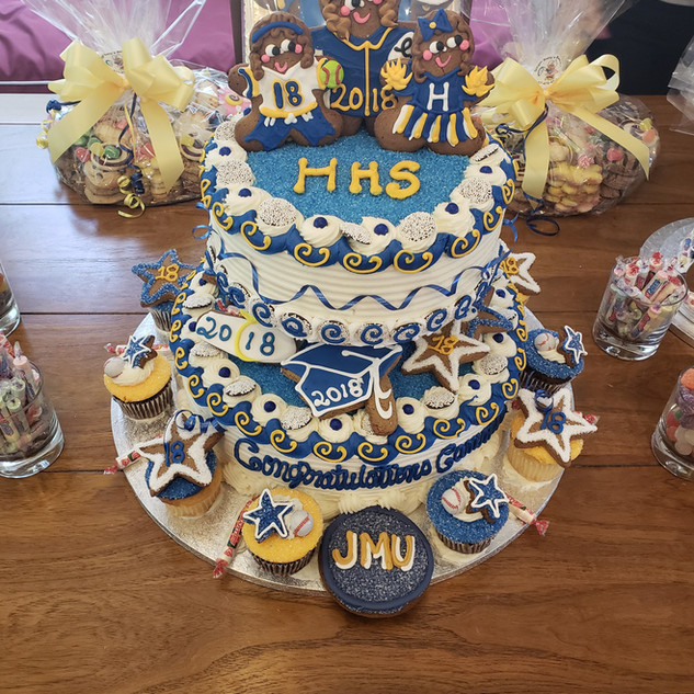 Cake 2 Tier High School Graduation with