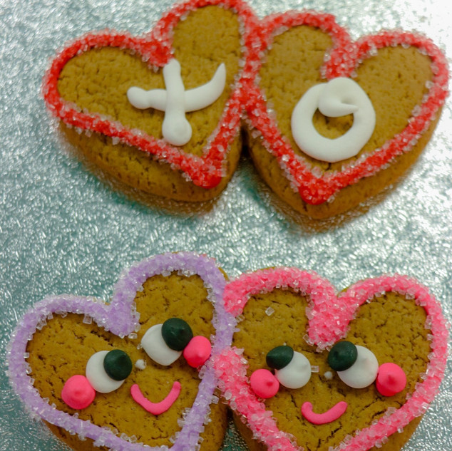 Valentines GB Cookie Double Heart00B060F