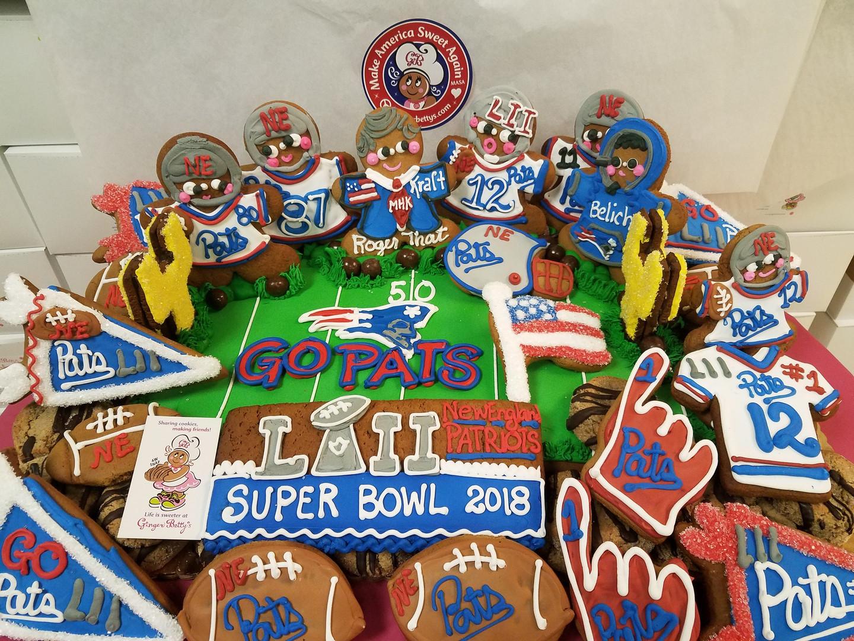 Cookies Patriots Display Superbowl 20180