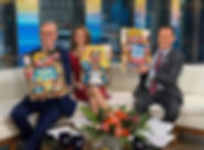 fox and friends holding up xl gb cookies