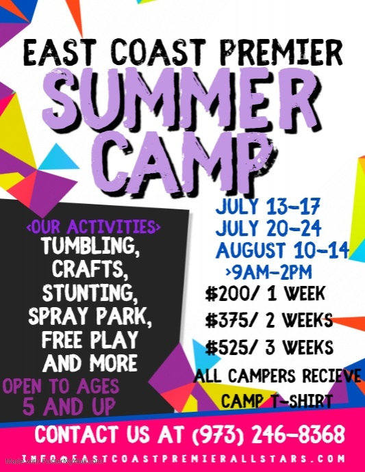 East Coast Premier Summer Camp 2020