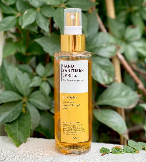 """""""Chai Spice"""" Spritz Hand Sanitiser 100mL"""
