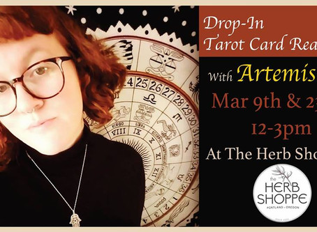 March Herb Shoppe Drop-In Hours