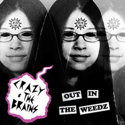 HC076 CRAZY & THE BRAINS Out In The Weedz cassette