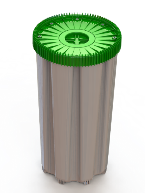 Lid design allows straps to be placed for barrel transportation