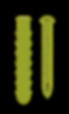Illustrasjon av murplugg og skrue