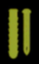 Illustajon av skrue og murplugg