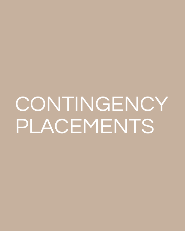 CONTINGENCY PLACEMENTS