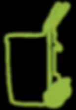Illustrajon av fattralle til avfallsbeholder