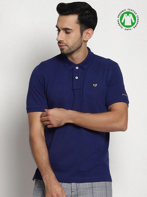 Peeppal: Navy Blazer Organic Polo T-Shirt