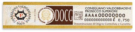 Label Prosecco SUperiore DOCG