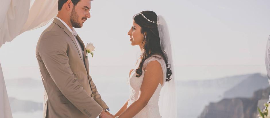 Casamento em Santorini: duas noivas lindas e um sonho especial!