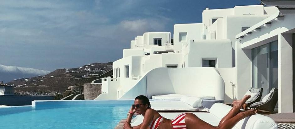 Celebridades brasileiras na Grécia!