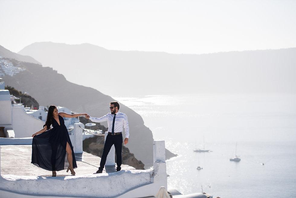 Ensaio de fotos em Santorini do nosso querido casal Ana e Luiz