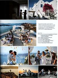 Casamento em Santorini na mídia - Ana Paula e Luiz Felipe na revista Show