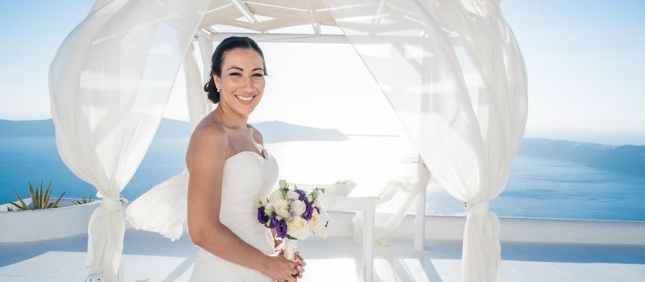 Vestidos de Noiva para Casamento em Santorini - Parte 1