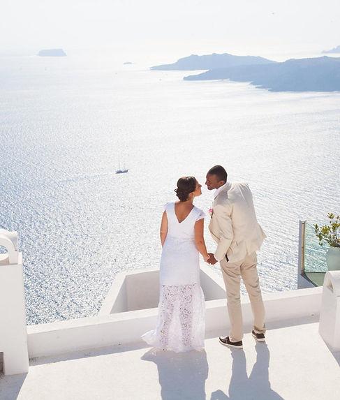 Casamento em Santorini do nosso querido casal Paula e Denis