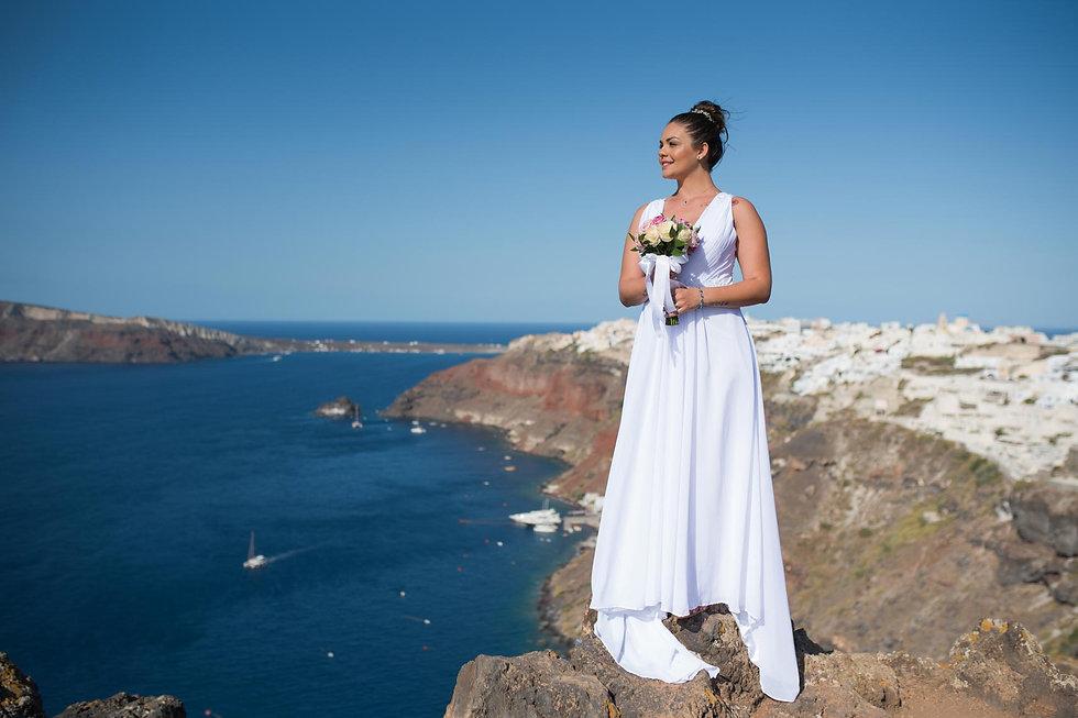 Ensaio de fotos em Santorini do nosso casal super especial Evelin e Nildo