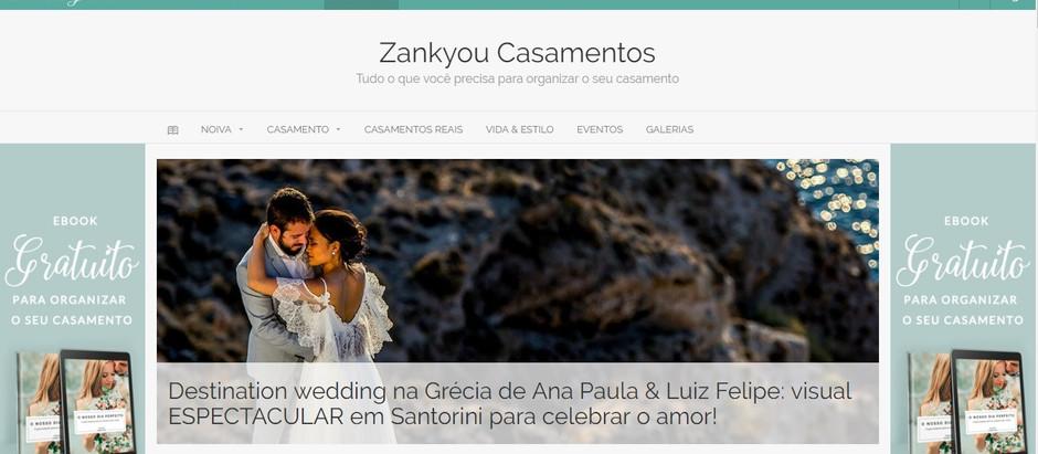 News: Casamento em Santorini no site da ZankYou!