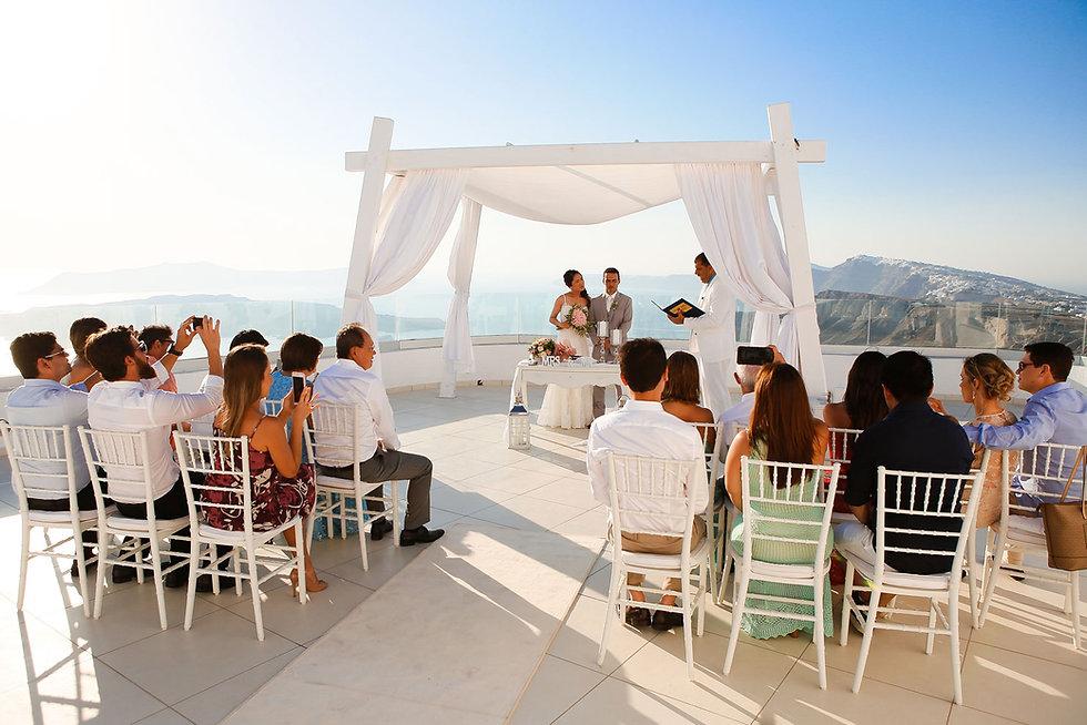Casamento em Santorini do nosso casal super especial Denise Alessandri