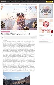 Casamento em Santorini na Mídia - Luana e André na Casar