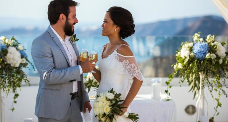 Casamento em Santorini: Dia da Noiva e Dia do Noivo