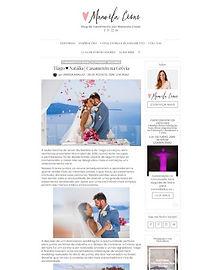 Casamento em Santorini na Mídia - Natália e Tiago na Colher de chá noivas