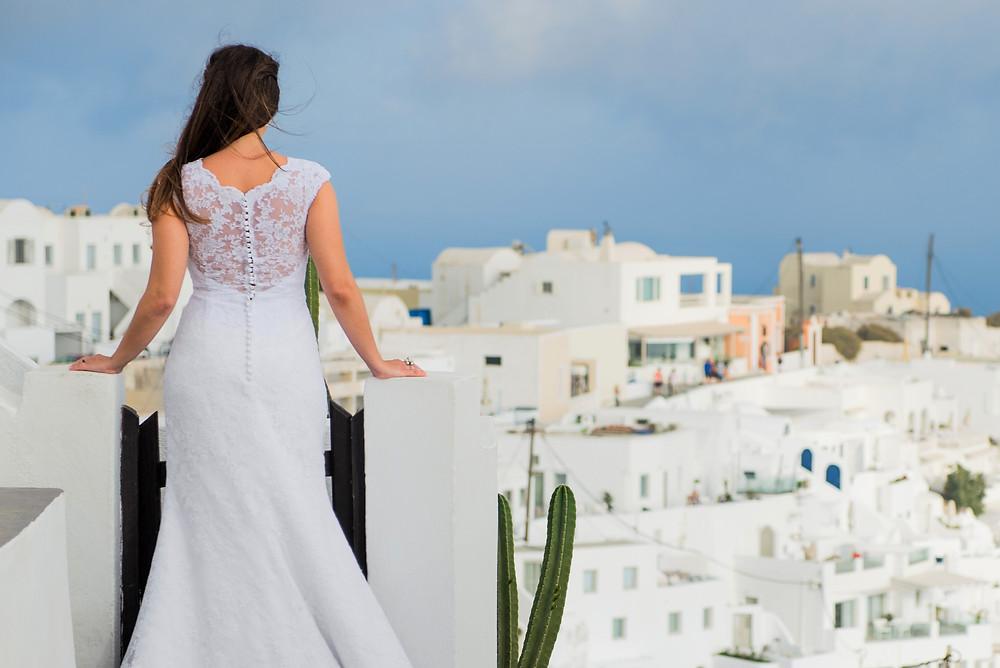 Casamento em Santorini Foto de Ben Rigas