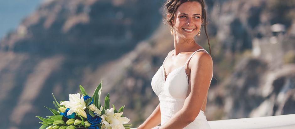 Vestidos de noiva para Casamento em Santorini - Parte 2