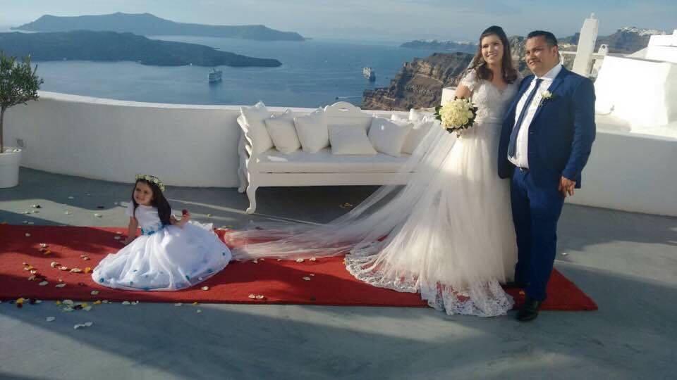 Noiva Ju casamento Santorini