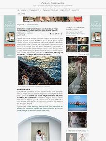 Casamento em Santorini na mídia - Ana Paula e Luiz na Zankyou