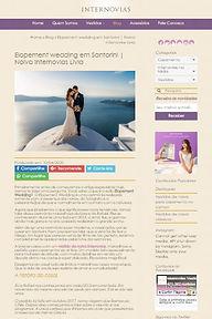 Casamento em Santorini na Mídia - Livia e Rafael na Internovias