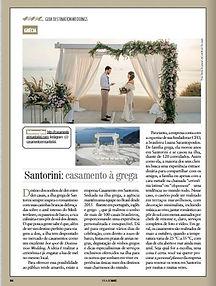 Casamento em Santorini na mídia - Laura e Gabriel na Viajemais