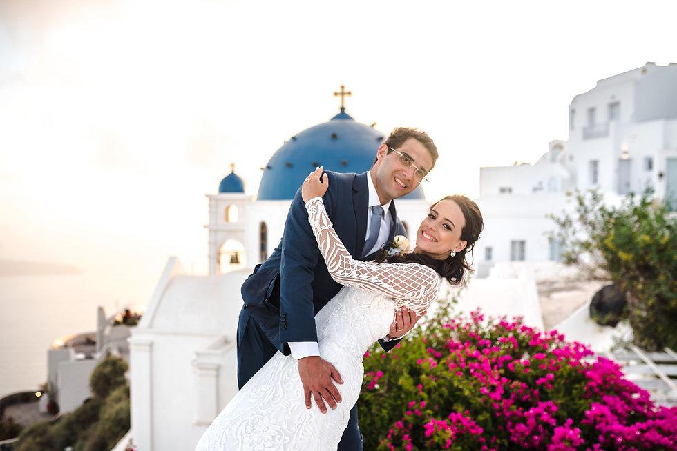 Casamento em Santorini do nosso casal super especial Brunna e Rodrigo