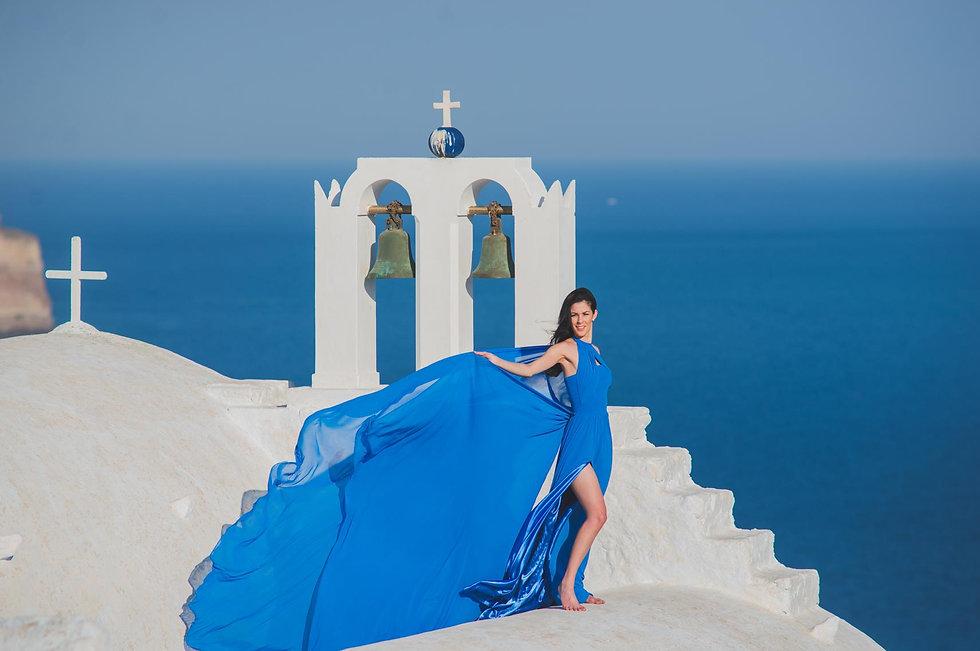 Ensaio e fotos em Santorini da nossa noiva super especial Ellen