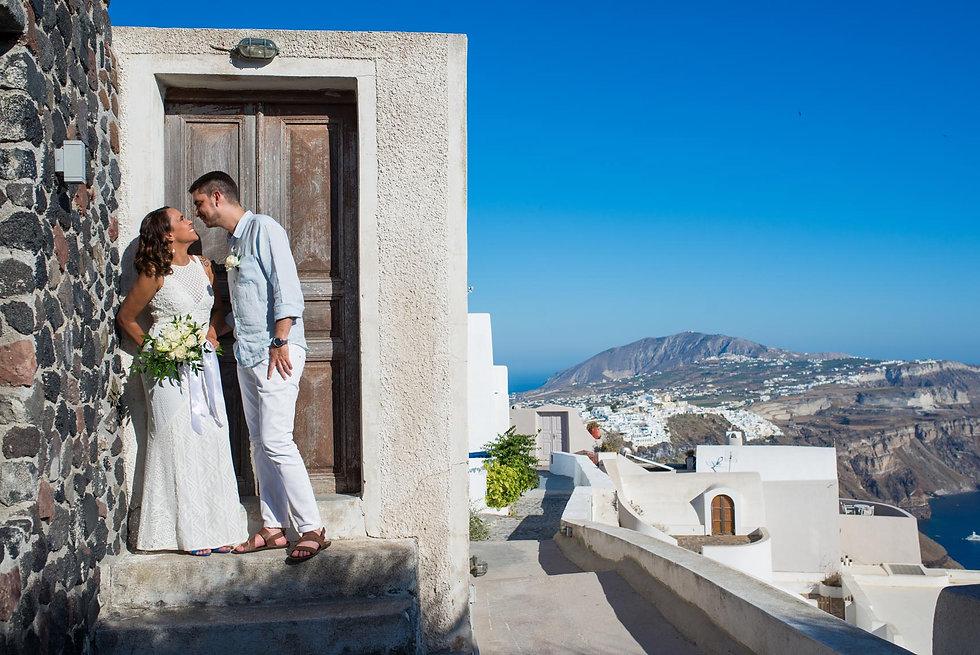 Ensaio de fotos em Santorini do nosso lindo casal Dulci e Ricardo