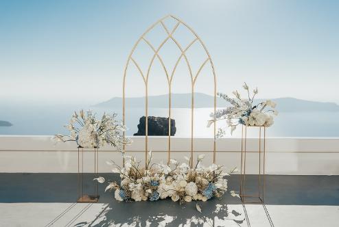 Dicas e Tendências de decoração para Casamento em Santorini!