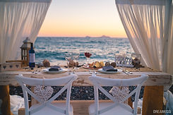 casamento na praia em santorini
