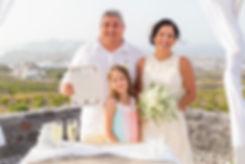 Casamento m Santorini do nosso casal super especial Cecília e Vladimir