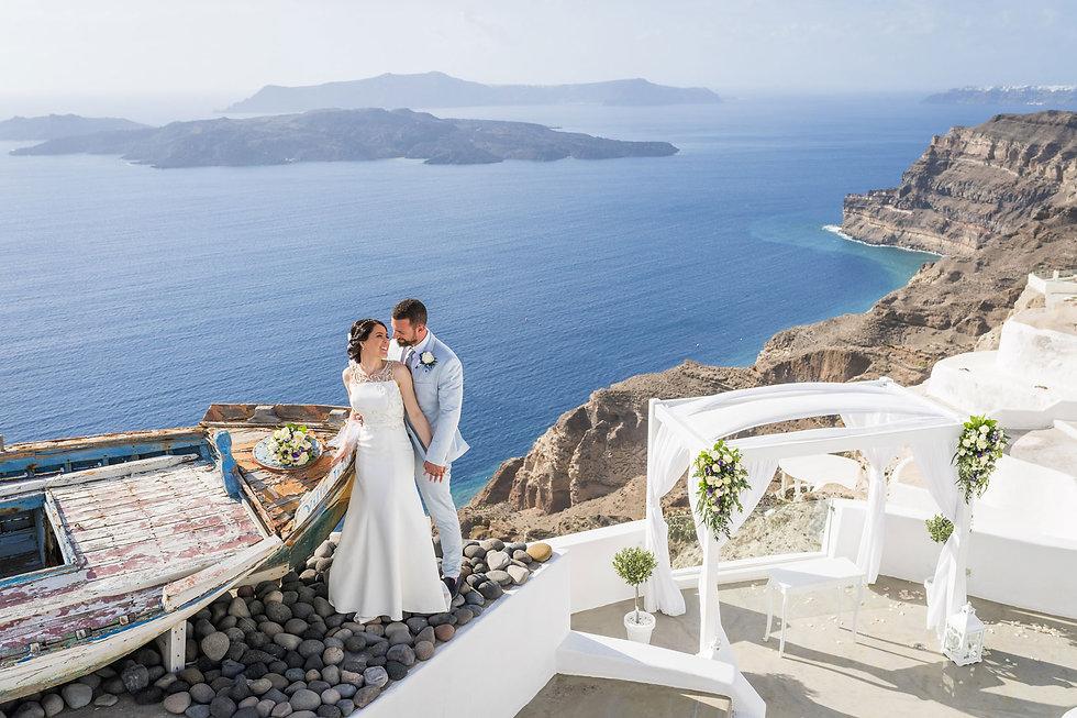 Casamento em Santorini do noso casal sper especial Viviane e Matheus