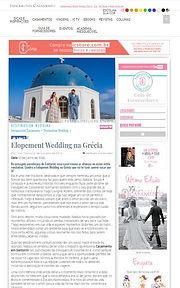Casamento em Santorini na Mídia - Natália e Tiago no Inesquecível Casamento